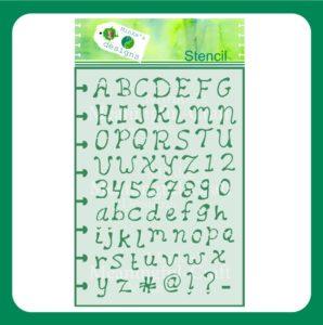 Stencil Alfabet